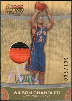 2007/08 Topps Trademark Moves Rookie Relic Ink #87 Wilson Chandler Autograph 35/139