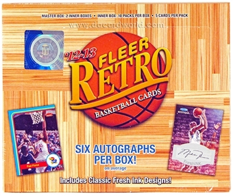 2012/13 Upper Deck Fleer Retro Basketball Hobby Box
