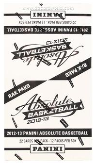 2012/13 Panini Absolute Basketball Rack Pack Box (12 Packs)