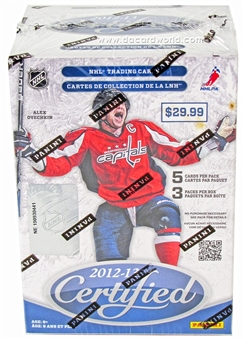 2012/13 Panini Certified Hockey 3-Pack Box  (1 Auto or Mem Per Box!)
