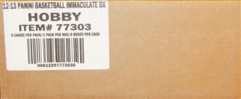 2012/13 Panini Immaculate Basketball Hobby Case - DACW Live 28 Team Random Break