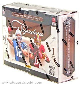 2012 Panini Prime Signatures Football Hobby 30-Box Case - DACW Live 32 Team Random Break
