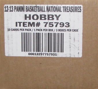2012/13 Panini National Treasures Basketball Hobby 3-Box Case - DACW Live 28 Spot Team Draft Style Break