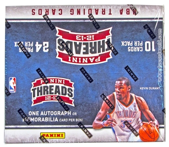 2012/13 Panini Threads Basketball Retail 24-Pack Box (One Autograph or Memorabilia Card Per Box)!