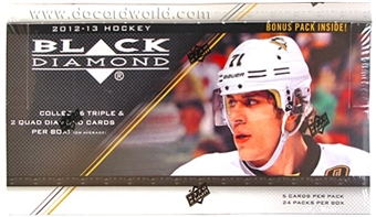 2012/13 Upper Deck Black Diamond Hockey Hobby Box