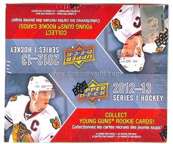 2012/13 Upper Deck Series 1 Hockey Retail 24-Pack Box (1 UD Game Jersey and 6 Young Guns Per Box)