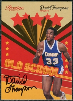 2009/10 Panini Prestige Old School Signatures #5 David Thompson Autograph /100