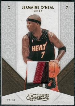 2009/10 Panini Timeless Treasures Materials Jerseys Prime #59 Jermaine O'Neal /10