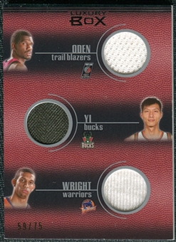 2007/08 Topps Luxury Box Five Jersey Gold Greg Oden Yi Jianlian Brandan Wright Nick Young Thaddeus Young /25