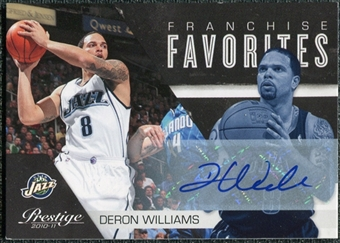 2010/11 Panini Prestige Franchise Favorites Signatures #25 Deron Williams Autograph /25