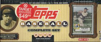 2008 Topps Factory Set Baseball Retail (Box) Babe Ruth Edition