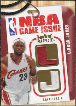 2008/09 Upper Deck Hot Prospects NBA Game Issue Jerseys #NBALJ LeBron James 072/149