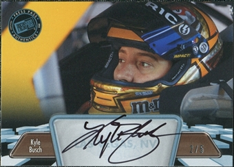 2012 Press Pass Autographs Blue #PPAKYB Kyle Busch Autograph 2/5