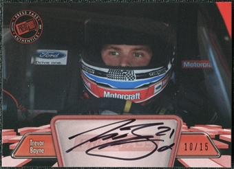 2012 Press Pass Autographs Red #PPATB1 Trevor Bayne Autograph 11/15
