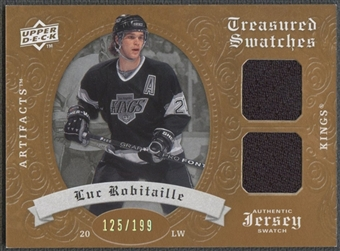 2008/09 Artifacts #TSDLR Luc Robitaille Treasured Swatches Dual Jersey #125/199
