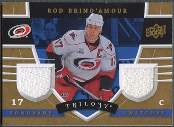 2008/09 Upper Deck Trilogy #HSBD Rod Brind'Amour Honorary Swatches Jersey