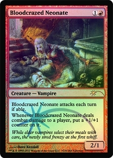 Magic the Gathering Promo Single Bloodcrazed Neonate FOIL