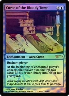 Magic the Gathering Promo Single Curse of the Bloody Tome FOIL