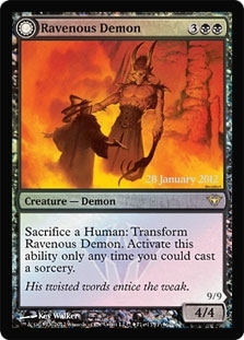 Magic the Gathering Promo Single Ravenous Demon - Archdemon of Greed Foil (Dark Asc. Prerelease)