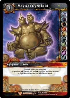 World of Warcraft Crown of the Heavens Single Magical Ogre Idol Loot Card