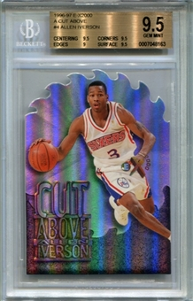 1996/97 E-X2000 A Cut Above #4 Allen Iverson BGS 9.5 Gem Mint *8163