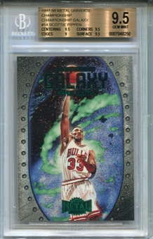 1997/98 Metal Universe Championship Galaxy #14 Scottie Pippen BGS 9.5 Gem Mint *8250
