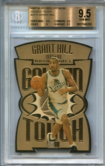 1997/98 SkyBox Premium Golden Touch #GT11 Grant Hill BGS 9.5 Gem Mint *8253