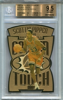 1997/98 SkyBox Premium Golden Touch #GT15 Scottie Pippen BGS 9.5 Gem Mint *8254