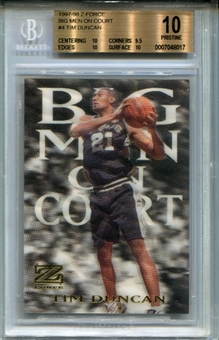 1997/98 Z-Force Big Men on Court #4 Tim Duncan BGS 10 Pristine *8017