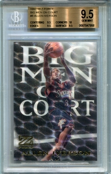 1997/98 Z-Force Big Men on Court #8 Allen Iverson BGS 9.5 Gem Mint *7958