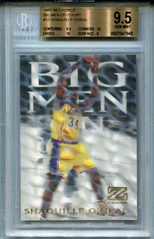 1997/98 Z-Force Big Men on Court #12 Shaquille O'Neal BGS 9.5 Gem Mint *7949