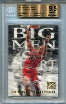 1997/98 Z-Force Big Men on Court #14 Dennis Rodman BGS 9.5 Gem Mint *8002