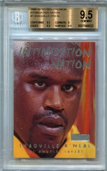 1998/99 SkyBox Premium Intimidation Nation #1 Shaquille O'Neal BGS 9.5 Gem Mint *8022