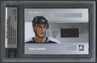 2007/08 ITG Ultimate Memorabilia #18 Vincent Lecavalier First Rounders Jersey #07/24