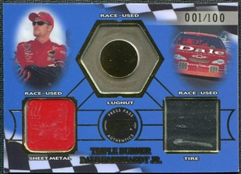 2002 Press Pass Triple Burner #TB1 Dale Earnhardt Jr. 1/100 Lugnut Sheet Metal Tire