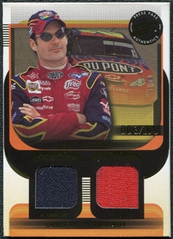 2003 Press Pass Double Burner #DB1 Jeff Gordon 3/100 Firesuit Glove