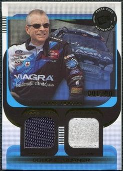 2003 Press Pass Double Burner #DB6 Mark Martin 1/100 Firesuit Glove