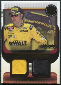 2003 Press Pass Double Burner #DB7 Matt Kenseth 2/100 Firesuit Glove