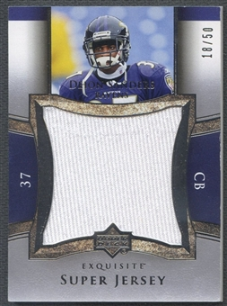 2005 Exquisite Collection #SJDS Deion Sanders Super Jersey Silver #18/50