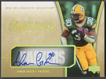 2005 Exquisite Collection #ESAG Ahman Green Signatures Auto #04/35