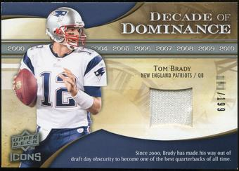 2009 Upper Deck Icons Decade of Dominance Jerseys #DDTB Tom Brady /199