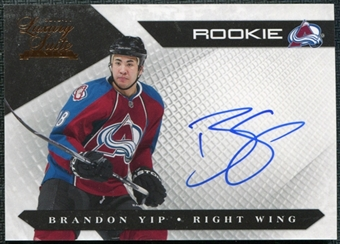 2010/11 Panini Luxury Suite #154 Brandon Yip Autograph /499