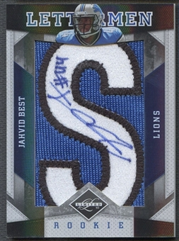 "2010 Limited #7 Jahvid Best Rookie Patch Lettermen """"S"""" Auto #3/4"