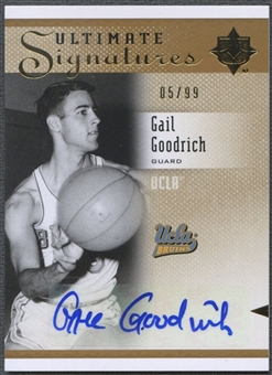 2010/11 Ultimate Collection #SGO Gail Goodrich Signatures Auto #05/99