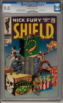 Nick Fury, Agent of S.H.I.E.L.D. #1 CGC 9.0 (OW-W) *1225978001*
