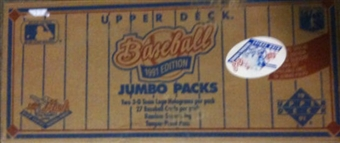 1991 Upper Deck Hi # Baseball Jumbo 20-Box Case