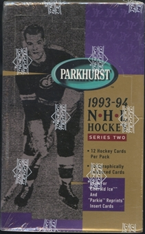 1993/94 Parkhurst Series 2 Hockey Retail Box