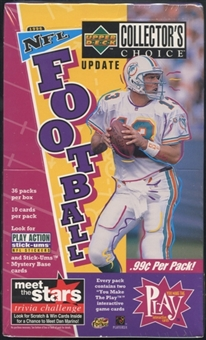 1996 Upper Deck Collector's Choice Update Football Prepriced Box