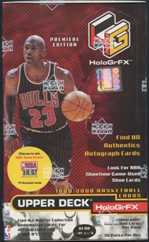 1999/00 Upper Deck Hologrfx Basketball Prepriced Box