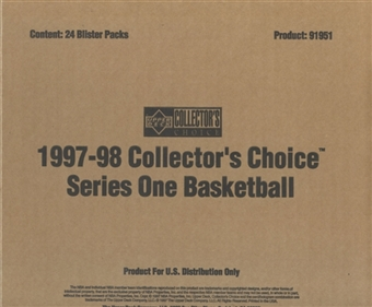 1997/98 Upper Deck Collector's Choice Series 1 Basketball Blister Box